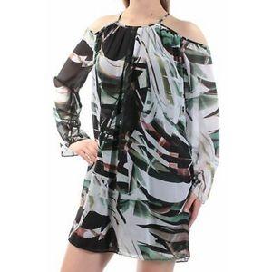 Bar III Cold Shoulder Shift Dress